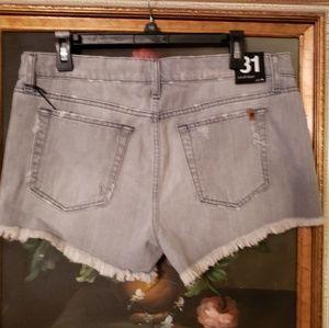 Joe's Jeans Shorts - JOES JEANS DISTRESSED DENIM SHORTS